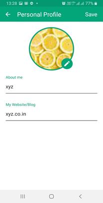 Profile setting